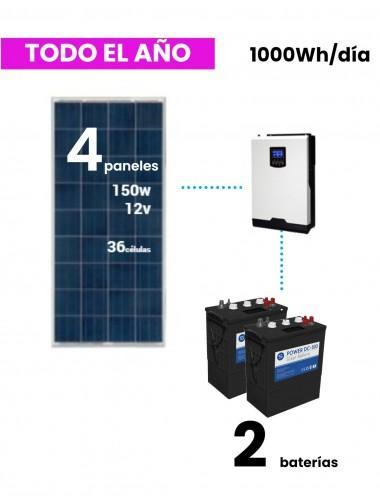 kit solar vivienda aislada 1000whd dc power uso todo el año - a la venta en tienda online TECNOSOL Albacete