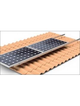 Soporte coplanar para placas solares sobre CUBIERTA TEJA - horizontal- modelo 01h - a la venta en TECNOSOL