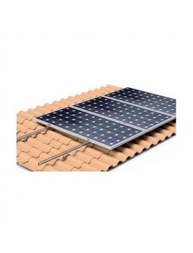 Soporte coplanar para placas solares sobre CUBIERTA TEJA con salvatejas - modelo 02v - a la venta en TECNOSOL