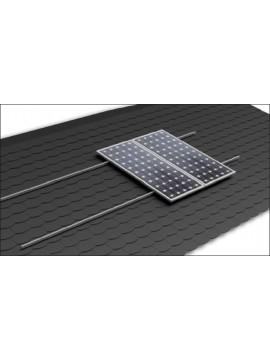 Soporte coplanar para placas solares sobre CUBIERTA TEJA Plana - salvatejas - modelo 02.1v a la venta en TECNOSOL