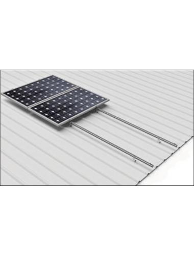 Soporte coplanar para placas solares sobre CUBIERTA CHAPA - vertical- modelo 03v - a la venta en TECNOSOL Albacete