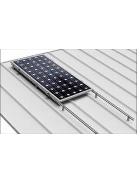 Soporte coplanar para placas solares sobre CUBIERTA CHAPA - horizontal - modelo 03h - a la venta en TECNOSOL