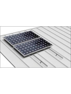 Soporte coplanar para placas solares sobre CUBIERTA CHAPA - atornillado- modelo 01.1v  - a la venta en TECNOSOL albacete