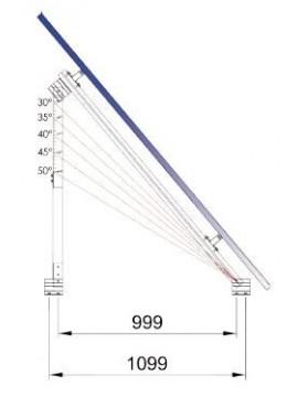 grafico grados de inclinación del Soporte inclinado REGULABLE - cubierta plana o suelo - a la venta en TECNOSOL