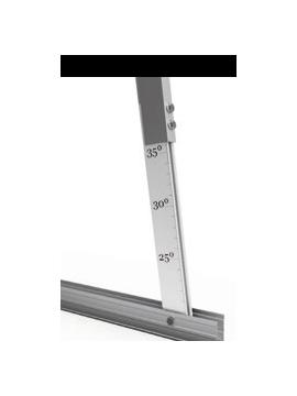 Soporte inclinado REGULABLE - cubierta metálica