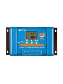 REGULADOR VICTRON BLUESOLAR PWM-LCD&USB 12/24v - a la venta en tienda TECNOSOL