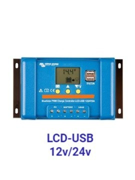 Regulador VICTRON BlueSolar PWM-LCD&USB 12/24v en tecnosol tienda online solar