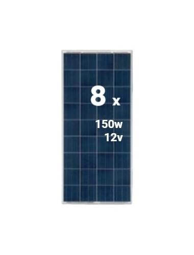 Pack 8 Placas Solares SCL 150Wp 12V (36 células) - tecnosolab.com
