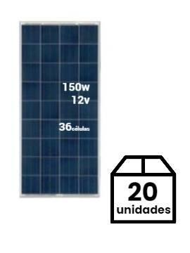 Pack 20 Placas Solares SCL 150Wp 12V (36 células) - tecnosolab.com
