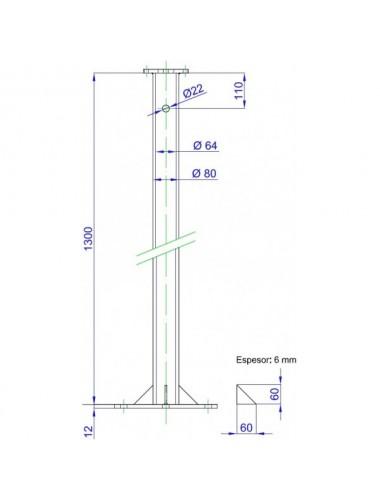 Puntera acople torre - Energía Eólica en tienda online TECNOSOL