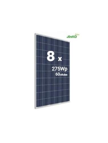 Pack 8 Placas Solares JINKO 275Wp (60 células) - a la venta en tienda online TECNOSOL albacete