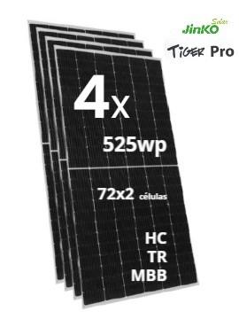 pack de 4 Placa Solar JINKO TIGER Pro 525Wp - a la venta en TECNOSOL albacete