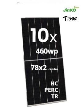 Pack 10 Placas Solares JINKO TIGER 460Wp
