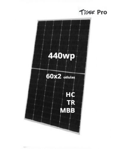 Placa Solar JINKO TIGER Pro 440Wp modelo JKM440M-6TL4-V Black Frame - a la venta en TECNOSOL Albacete