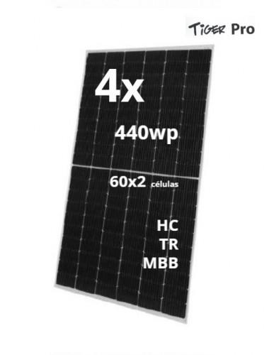 Pack 4 Placas Solares JINKO TIGER Pro 440Wp - venta en la tienda TECNOSOL ALBACETE