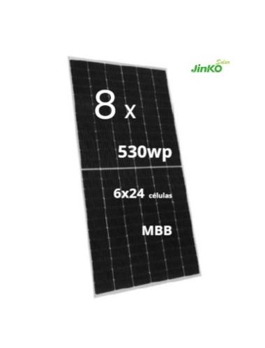 PACK 8 Placas Solares JINKO TIGER Pro 530Wp a la venta en tienda online TECNOSOL Albacete