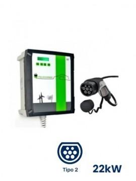 Cargador para vehículos eléctricos Wallbox POLICHARGER PRO-T23F de pared - a la venta en TECNOSOL