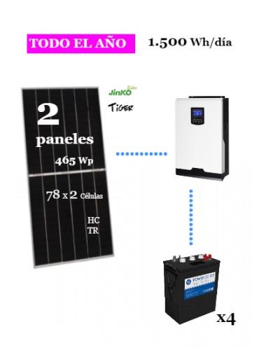 KIT SOLAR 1500Wh/día DC Power - uso habitual a la venta en tienda online TECNOSOL ALBACETE