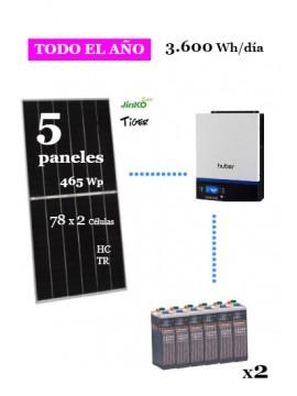 kit solar para vivienda aislada consumo 3600whd anual - uso habitual - a la venta en tienda online TECNOSOL Albacete
