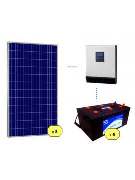 KIT SOLAR BASICO 3500Wh/día MONOBLOC - en tienda online Tecnosol