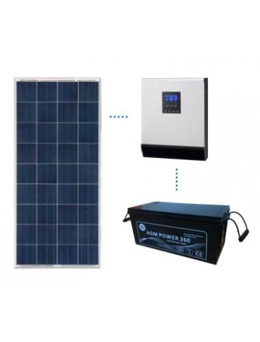 KIT SOLAR BASICO 600Wh/día AGM - venta en tienda online TECNOSOL