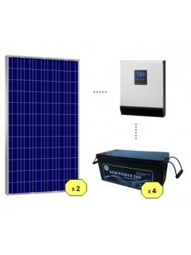 KIT SOLAR BASICO 2200Wh/día AGM - en tienda online TECNOSOL