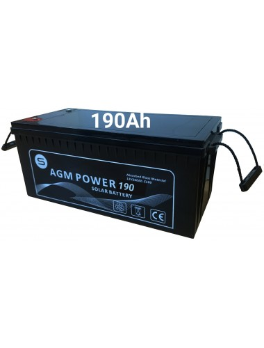 Batería solar AGM POWER 190Ah - venta en tienda online TECNOSOL