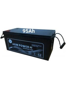 Batería AGM power 95Ah- en tienda energía solar TECNOSOL