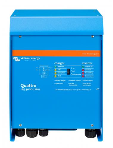 Inversor Cargador Victron Quattro 12/3000/120 - tecnosol