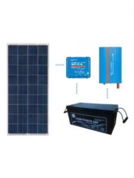 KIT solar premium 600Wh/día batería AGM de TECNOSOL