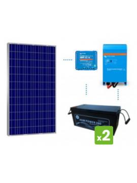 KIT solar premium 1200Wh/día batería AGM de TECNOSOL