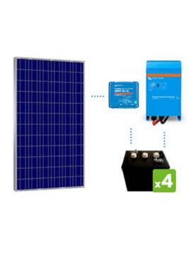 KIT solar premium 1200Wh/día batería DC Power de TECNOSOL