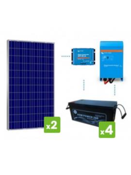 kit premium solar 2500Wh/día batería AGM- tecnosol