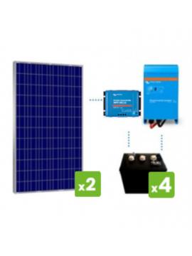 KIT solar premium 2500Wh/día batería de ciclo profundo DC POWER de TECNOSOL