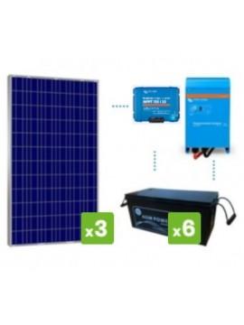kit premium solar 4000Wh/día batería AGM - TECNOSOL
