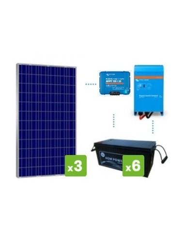 """kit """"premium solar 4000Wh/día batería AGM - venta en Tecnosol"""