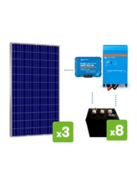 KIT solar premium  4000Wh/día batería DC POWER de TECNOSOL