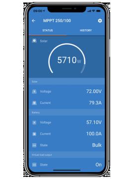 victron connect APP para monitor baterias en tienda online TECNOSOL