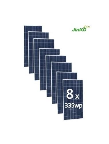 Pack de 8 Placas Solares JINKO 335Wp 24V (72 células) - Tecnosol