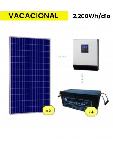 KIT SOLAR BASICO 2200Wh/día AGM - tecnosol Albacete
