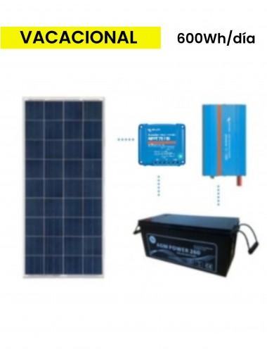 KIT solar premium 600Wh/día batería AGM - TECNOSOL Albacete
