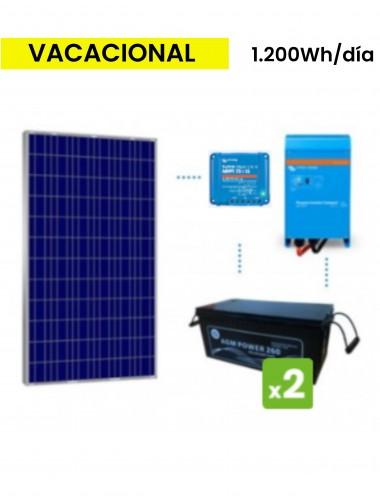 KIT SOLAR PREMIUM 1200Wh/día AGM - tecnosol Albacete