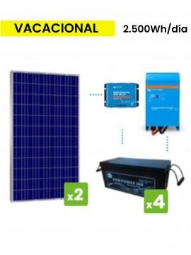 KIT solar premium 2500Wh/día batería AGM - TECNOSOL Albacete