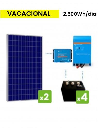 KIT solar premium 2500Wh/día batería de ciclo profundo DC POWER - TECNOSOL Albacete