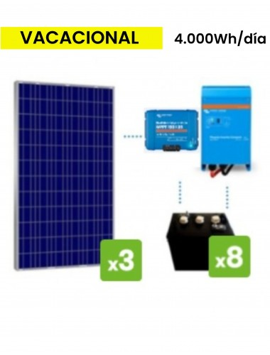 KIT solar premium  4000Wh/día batería DC POWER- tecnosol Albacete