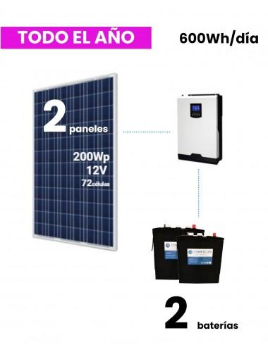 kit solar vivienda aislada 600whd dc power - a la venta en tienda online TECNOSOL Albacete