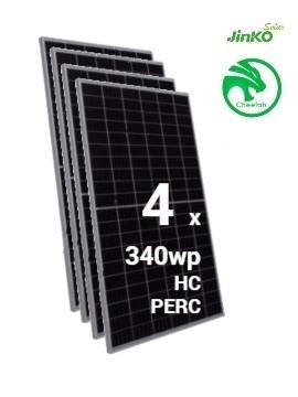 pack 4 placas solares jinko cheetah  340wp 60M a la venta en tecnosol