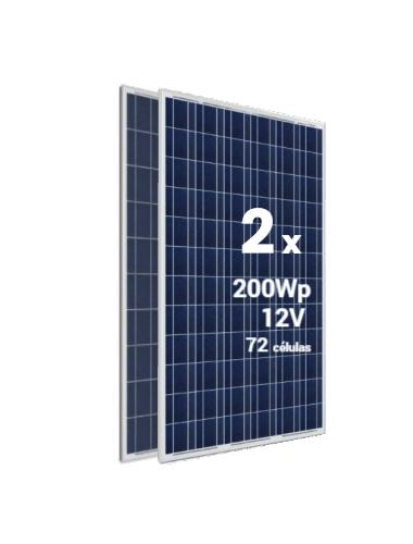 Pack 2 Placas Solares SCL 200Wp 12V - a la venta en tienda online TECNOSOL -