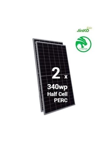 pack 2 placas solares jinko cheetah 340wp 60M a la venta en tecnosol