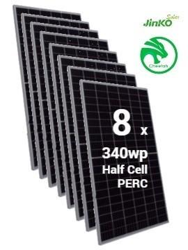 Pack 8 Placas Solares JINKO Cheetah 340Wp (60células) - a la venta en tienda online TECNOSOL